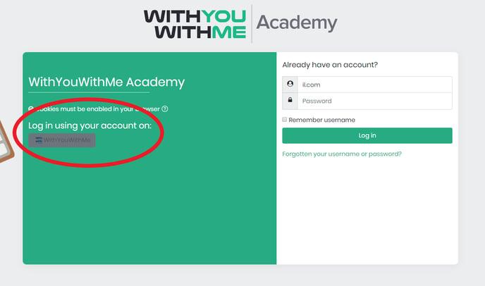 Academy login portal